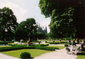 Královská Zahrada parc, facing St. Vitus cathedral