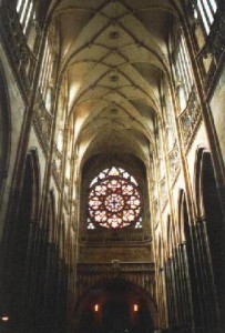 Rose window in west facade