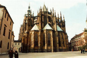 East side of St. Vitus cathedral