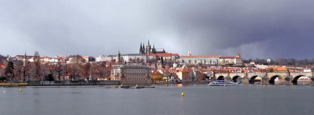 Prague Castle across Vltava