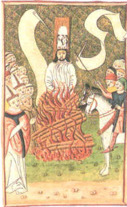 Jan Hus was considered a heretic and burned at the stake